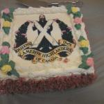 Standing on guard cake