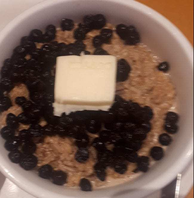 I began my celebrating with some oatmeal.