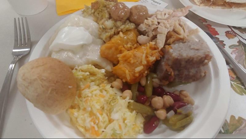 fall supper plate