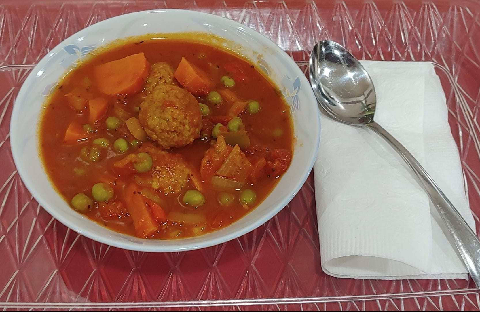 Lunchroom bowl of soup