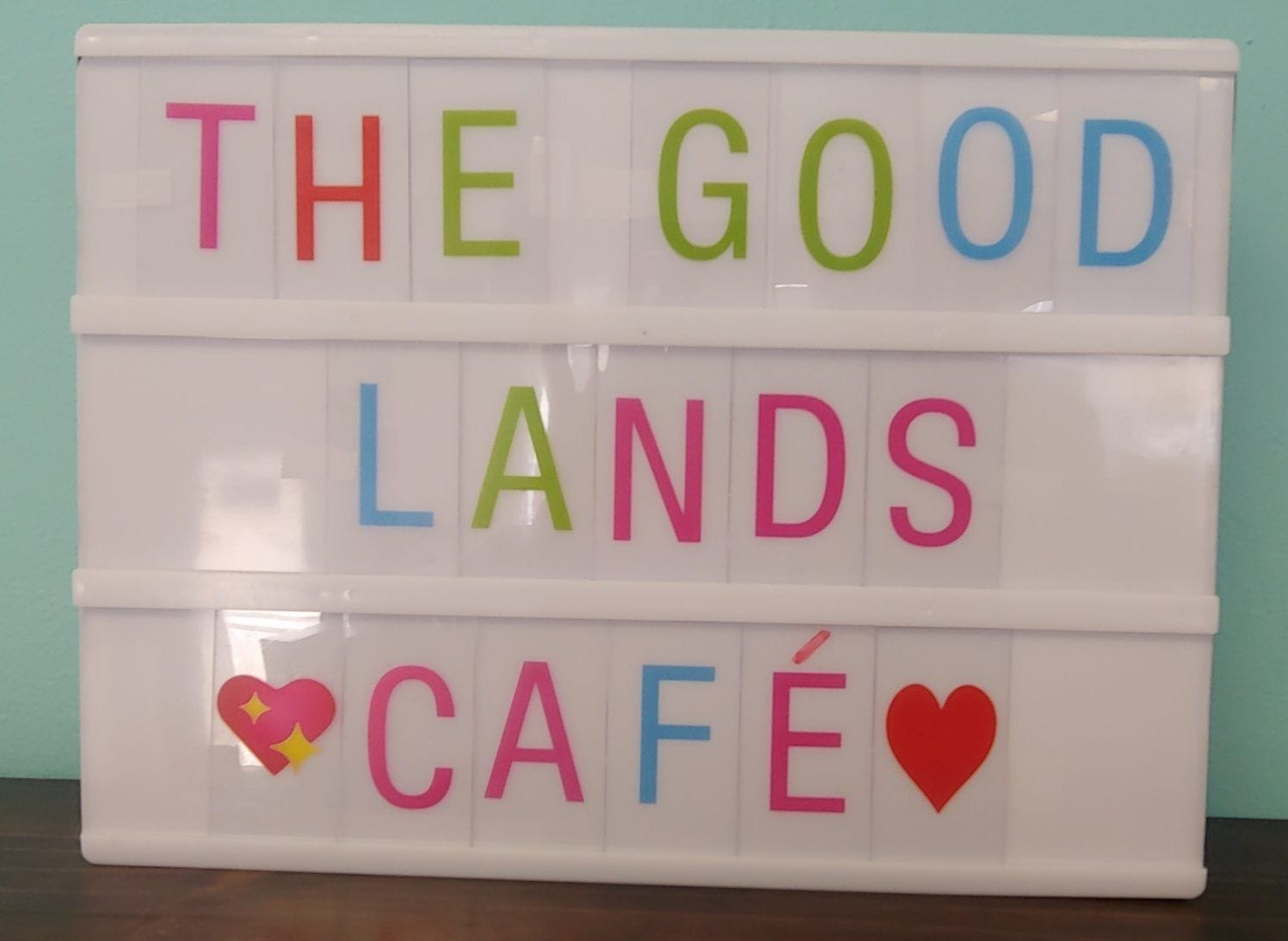 The Good Lands sign