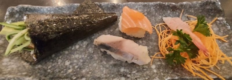 Second platter of sushi