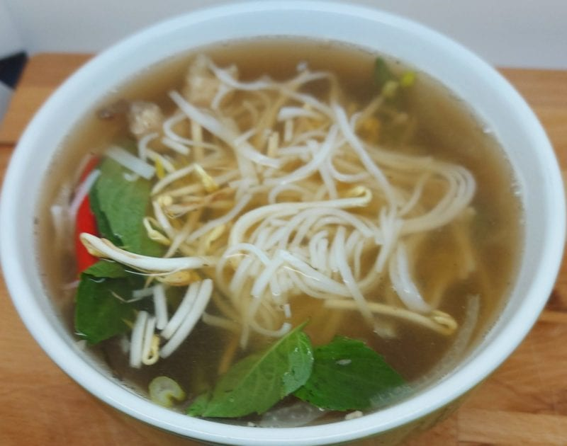 Pho No 1, rare beef, beef, and tripe Pho
